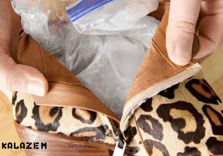 آموزش گشاد و بزرگ کردن کفش با یخ