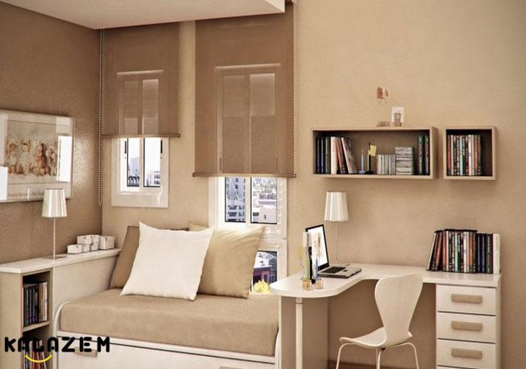 فضای مطالعه در اتاق خواب